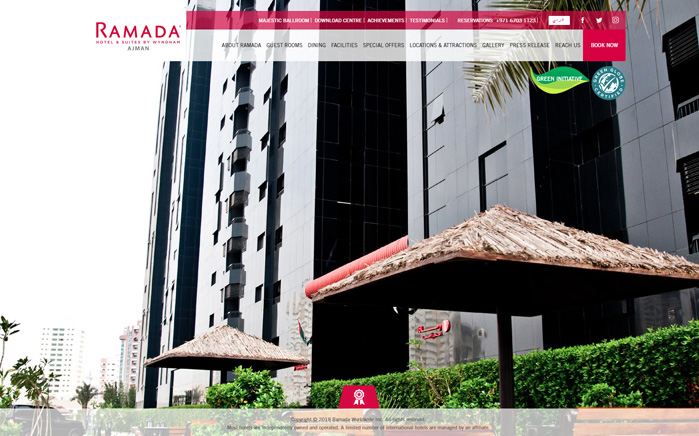 Site preview for Ramada