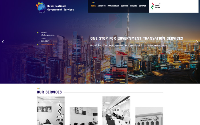 Services for Dubai National Govt. System